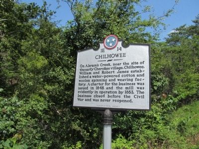 Chilhowee Marker Photo, Click for full size
