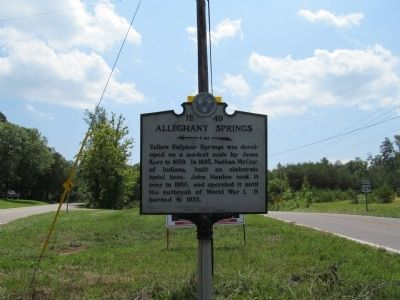 Alleghany Springs Marker image. Click for full size.