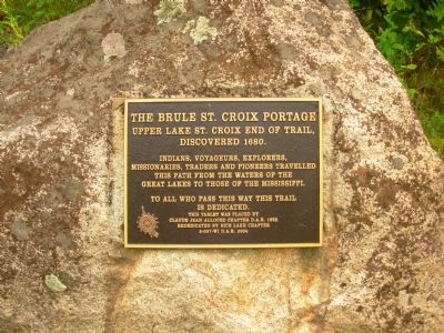 The Brule St. Croix Portage Marker image. Click for full size.