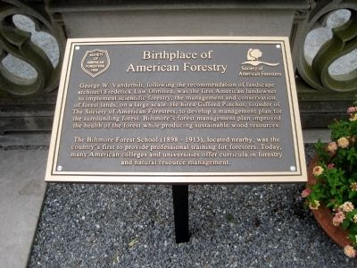 Birthplace of American Forestry Marker image. Click for full size.