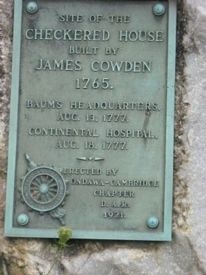 Checkered House Baums headquarters August 13,1777 Marker Photo, Click for full size