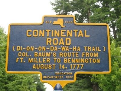 Continental Road Marker Photo, Click for full size