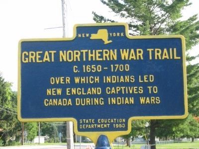 Great Northern War Trail Marker image. Click for full size.