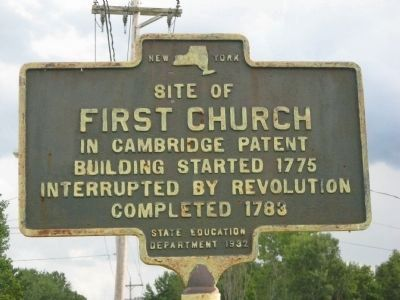 First Church in Cambridge Patent Marker Photo, Click for full size