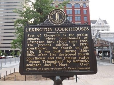 Lexington Courthouses / Cheapside Marker image. Click for full size.