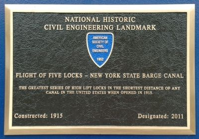 Flight of Five Locks Marker image. Click for full size.