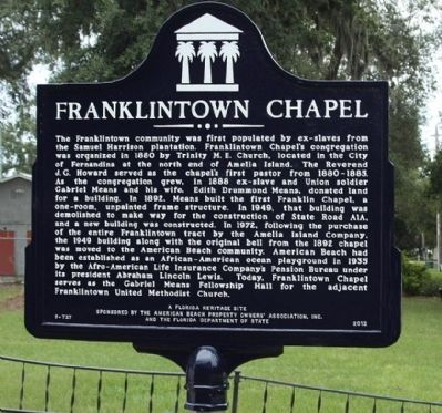 Franklintown Chapel Marker image. Click for full size.