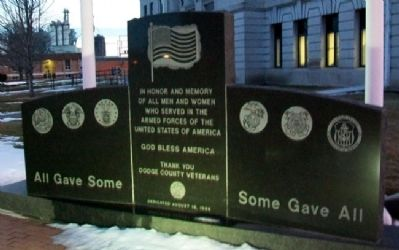 Dodge County Veterans Memorial image. Click for full size.