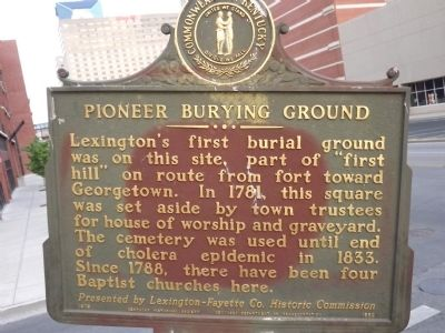 Pioneer - Burying Ground Marker image. Click for full size.