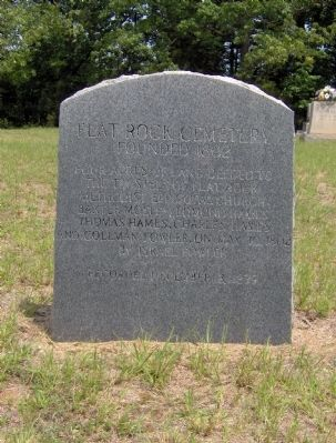 Flat Rock Cemetery Marker Photo, Click for full size