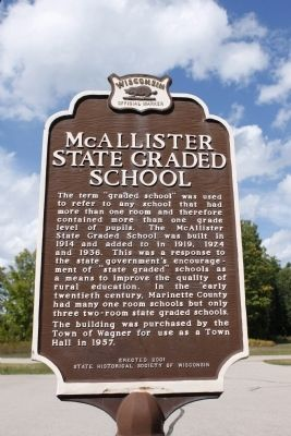 McAllister State Graded School Marker image. Click for full size.