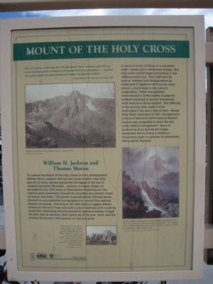 Mount of the Holy Cross Marker image. Click for full size.