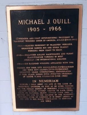 Michael J. Quill Marker Photo, Click for full size
