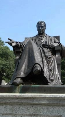 Chief Justice John Marshall in his park image. Click for full size.