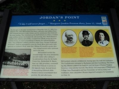 Jordan�s Point Marker Photo, Click for full size