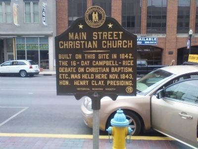 Main Street Christian Church Marker image. Click for full size.