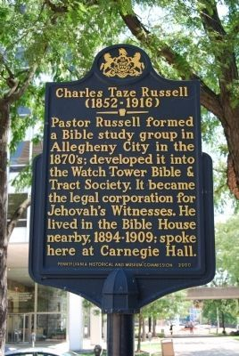 Charles Taze Russell Marker image. Click for full size.