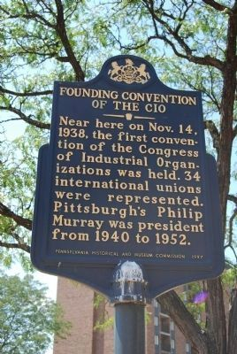 Founding Convention of the CIO Marker Photo, Click for full size