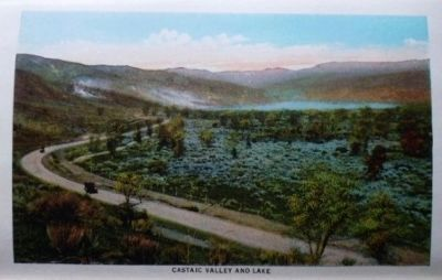 Castaic Valley and Lake Photo, Click for full size