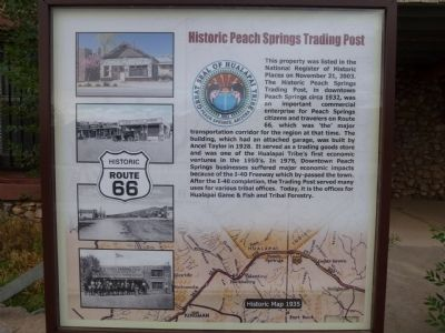 Historic Peach Springs Trading Post Marker image. Click for full size.