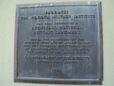 Barracks<br>The Virginia Military Institute Marker image. Click for full size.