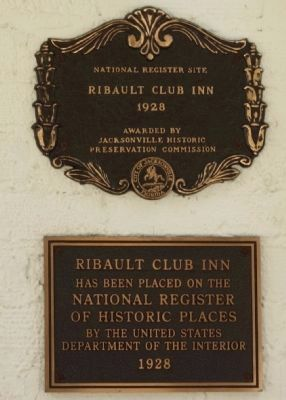 Right-side Ribault Club Inn Marker image. Click for full size.