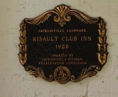 Left-side Ribault Club Inn Marker image. Click for full size.