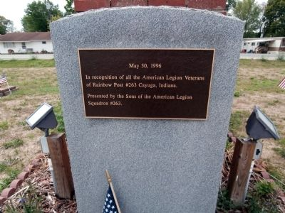 Wide View - - American Legion Veterans Marker image. Click for full size.