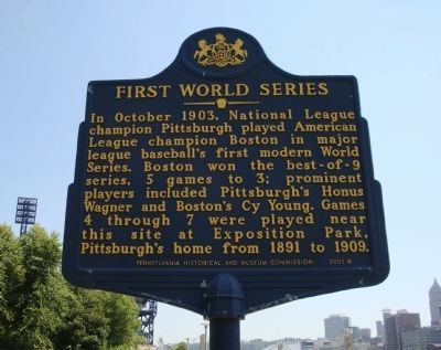 First World Series Marker image. Click for full size.
