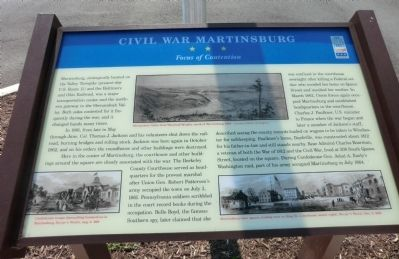 Civil War Martinsburg Marker image. Click for full size.