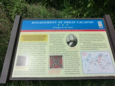 Engagement at Great Cacapon Marker Photo, Click for full size