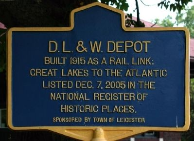 D. L. & W. Depot Marker image. Click for full size.