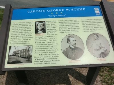 Captain George W. Stump Marker Photo, Click for full size