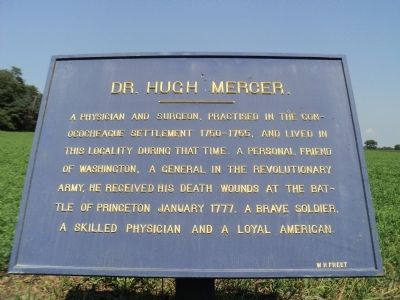 Dr. Hugh Mercer Marker Photo, Click for full size