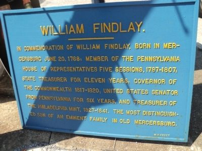 William Findlay Marker image. Click for full size.
