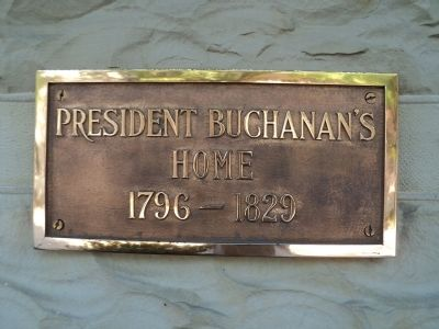 President Buchanan�s Home Marker Photo, Click for full size