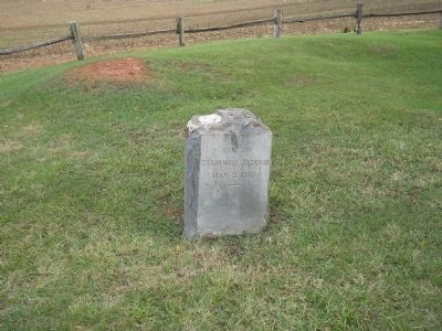 Arm of Stonewall Jackson Marker Photo, Click for full size