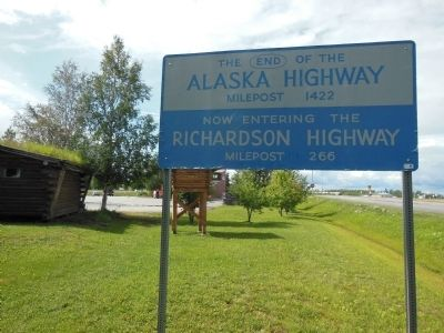 Milepost 1422 End of the Alaska Highway Photo, Click for full size