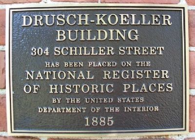 Drusch-Koeller Building NRHP Marker image. Click for full size.