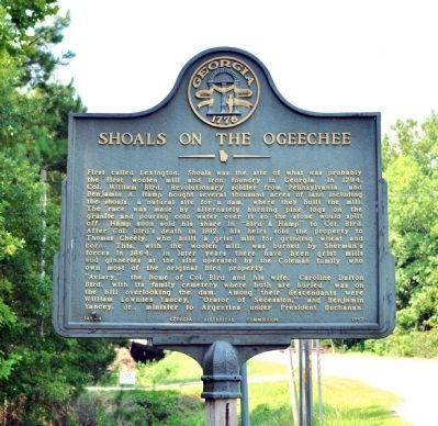 Shoals on the Ogeechee Marker image. Click for full size.