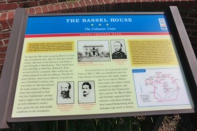 The Bassel House Marker image. Click for full size.