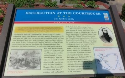 Destruction at the Courthouse Marker Photo, Click for full size