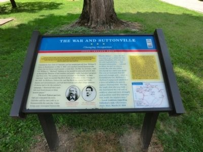 The War and Suttonville Marker image. Click for full size.