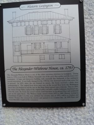 The Alexander-Withrow House Marker image. Click for full size.