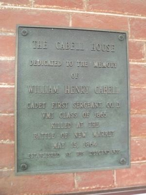 The Cabell House Marker image. Click for full size.