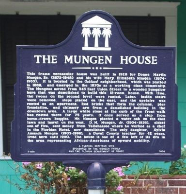 The Mungen House Marker image. Click for full size.
