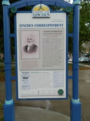Lincoln Correspondent Marker Photo, Click for full size