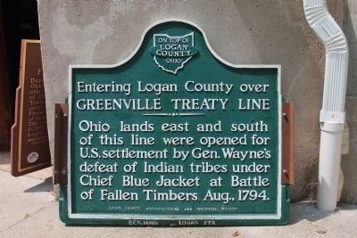 Greenville Treaty Line / Indian Boundary Marker Photo, Click for full size