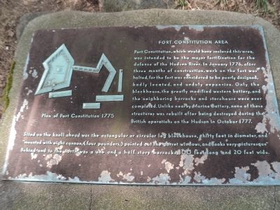 Fort Constitution Area Marker image. Click for full size.