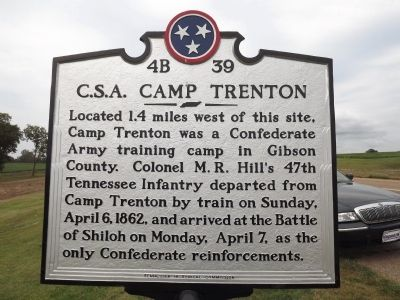 C.S.A. Camp Trenton Marker Photo, Click for full size